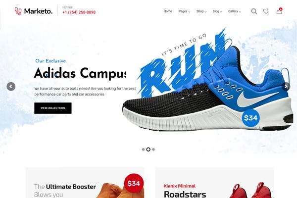 website cửa hàng giày