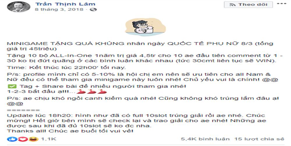 mini game hay cho fanpage 1