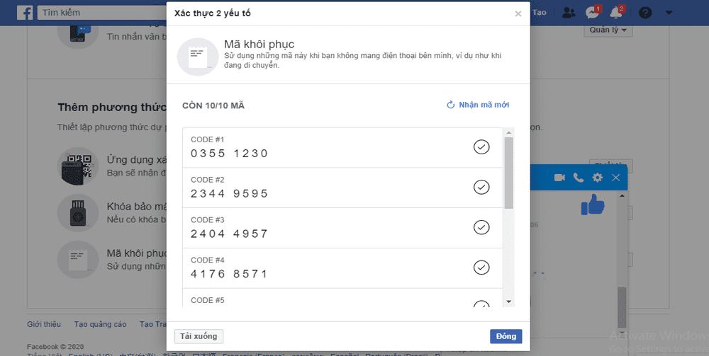 bảo mật Facebook 2020