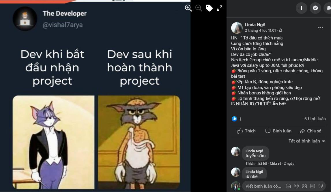 mẫu content hài hước