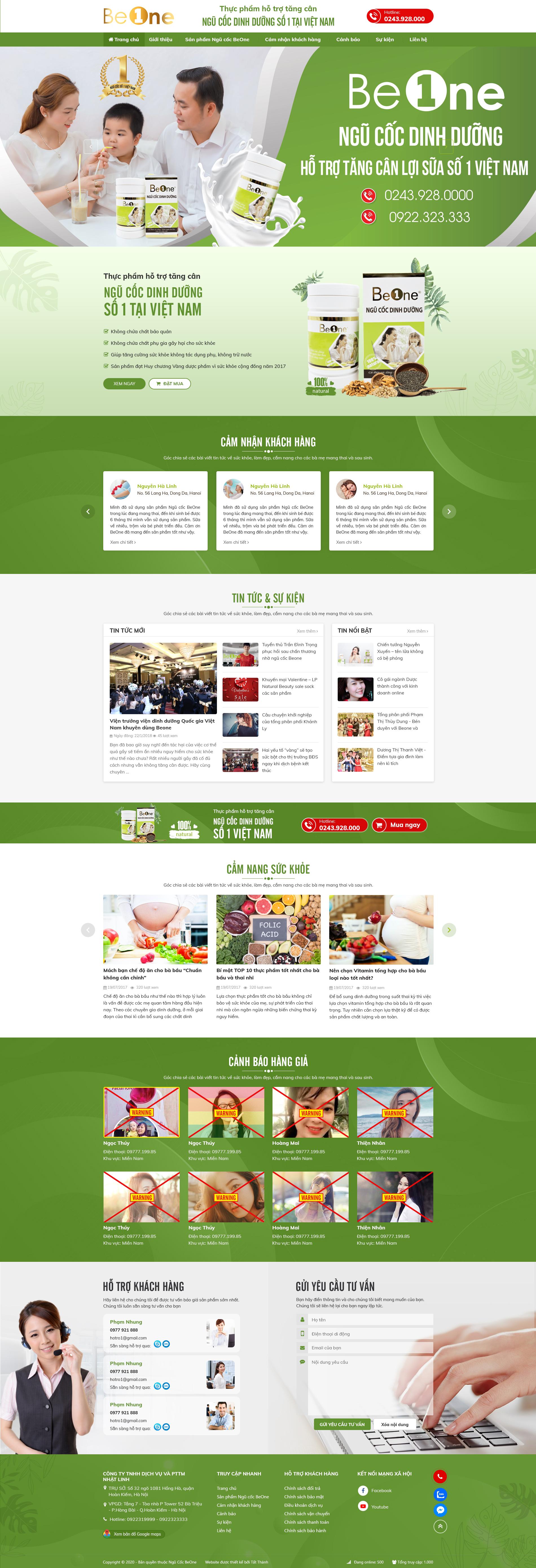Mẫu web giới thiệu công ty
