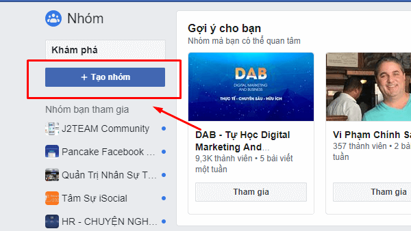 xây dựng gruop facebook